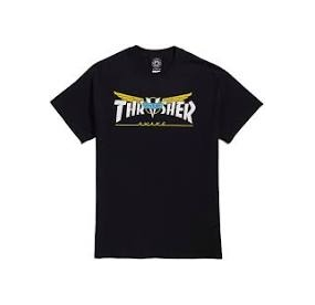THRASHER  TEE VENTURE COLLAB BLACK